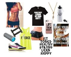 """""""A little Sunday fitspo"""" by bookworm528 ❤ liked on Polyvore featuring Marc Jacobs, Lydell NYC, Casetify and Homedics"""