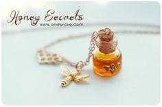 Inspirational gift for women Honey Bottle necklace,honey necklace honeycomb necklace,bee jewelry,miniature jewelry,potion necklace Bottle Jewelry, Witch Jewelry, Bottle Charms, Resin Jewelry, Honey Bottles, Glass Bottles, Keep Jewelry, Jewelry Gifts, Handmade Jewelry