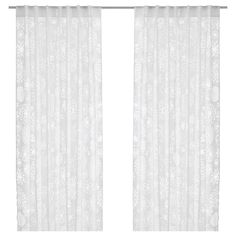 HEDDA BLAD Pair Of Curtains IKEA A Thin Sheer The Curtain Can Easily Be Hemmed To Desired Length With An Iron On Hem Strip