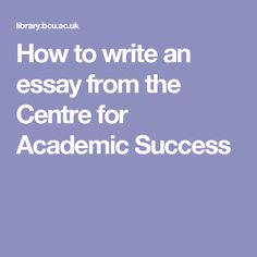 academic success 3 essay Free essay: continuing academic success name gen/201 date teacher name continuing academic success achieving academic success is something that many.