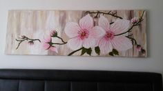 Art Floral, Diy Wall Art, Framed Wall Art, Butterfly Painting, Abstract Flowers, Flower Pictures, Acrylic Art, Fabric Painting, Flower Art