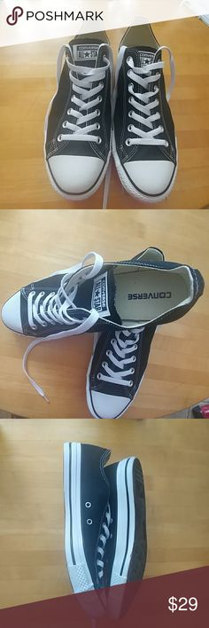 Converse All Stars Size 10 Like New Converse All Stars - Worn Twice. In Excellent Condition. Converse Shoes Sneakers