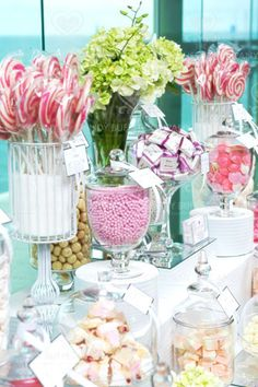 Pink Candy Buffet #sweettreats #partyideas #candy via http://www.candybuffet.com.au/candy-buffet-gallery.html