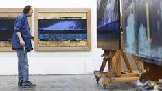 Kjell Nupen: - Min sykdom er ikke uforutsigbar, den er avklart, og derfor gir det meg ikke angst Artist At Work, Articles, Painting, Abstract Backgrounds, Painting Art, Paintings, Painted Canvas, Drawings