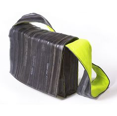 recycled bicycle inner tubes. amazing