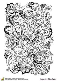 superbes mandalas melange fleurs