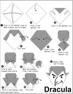 origami jack o lantern case instructions easy origami rh pinterest com Halloween Origami Pumpkin Origami Owl Game for Halloween
