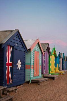 Brighton Beach in Melbourne, Victoria, Australia Brisbane, Perth, Sydney, Australia Tourism, Visit Australia, Melbourne Australia, Cairns Australia, Australia Beach, Western Australia