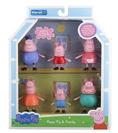 Amazon.com: Peppa Pig and Family Figure Grandpa Granny Exclusive Set of 6: Toys & Games