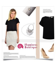 """""""Happiness Boutique"""" by amra-mak ❤ liked on Polyvore featuring ESSENTIEL ANTWERP, Maiden Lane, Lipsy and happinessbtq"""