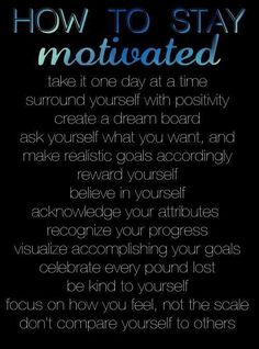 How to stay motivated. #motivation For guide + advice on #health and #fitness, visit