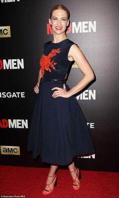 January Jones wearing Preen by Thornton Bregazzi at the Mad Men Screening in New York