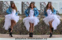 Юбка-пачка из фатина Невеста ( со шлейфом) - пачка,шлейф,юбка-пачка,юбка со шлейфом