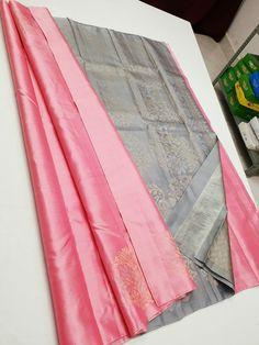 Bridal Sarees South Indian, Indian Silk Sarees, Soft Silk Sarees, Simple Saree Designs, Half Saree Designs, Wedding Saree Collection, Dress Collection, Kanjipuram Saree, Half Saree Function