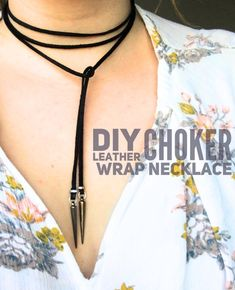 "DIY Leather Choker Wrap Necklace - Well the beloved 90's chokers are back, and have been for a few months! I've got to admit I was slightly behind the trend thinking, ""Are those really back?"". But how can you not love them when so many beautiful people like, Cara Delevingne and Kendall Jenner, look so good in them! While I've seen the tattoo choker make a roaring comeback, the wraps and bolo chokers are also all the rage right now. Let me show you how to make one! Life on Waller"