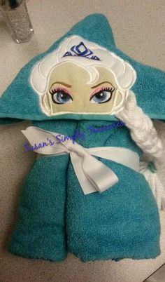 Hooded bath towel.  $25.00. Made to fit everyone.  Can add name for $5.00. Will ship anywhere in the US.  PAYPAL ONLY