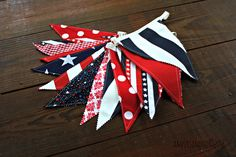 A personal favorite from my Etsy shop https://www.etsy.com/listing/236564472/patriotic-banner-red-white-blue-bunting