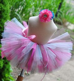 Cupcake Sewn Tutu and headband set sizes newborn by TrinitysTutus, $25.00