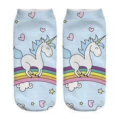 Unicorn Socks in Several Cute and Magical Designs for Women and Girls Ankle Length