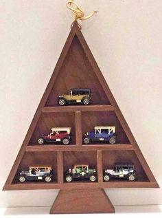 Readers Digest Diecast Toy Car Replicas 6 Lot Vtg 1989 Promo Tree Display Shelf #ReadersDigest