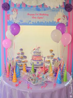 Unicorn Party Dessert Table