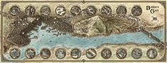 A hi-res map of the iconic Forgotten Realms city of Baldur's Gate; originally created for the D&D Sundering Adventure Murder in Baldur's Gate by authors Ed Greenwood, Matt Sernett, and Steve Winter