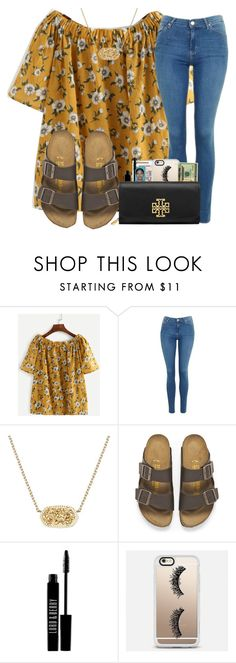 """""""what kind of backpack do you have? comment"""" by madiweeksss ❤ liked on Polyvore featuring Topshop, Kendra Scott, Birkenstock, Lord & Berry, Casetify and Tory Burch"""