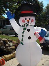 Gemmy snowman chubby inflatable good girl