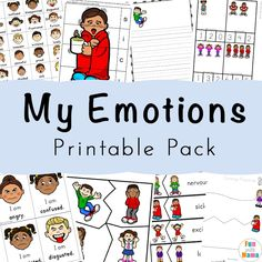 Are you teaching feelings? Understanding feelings and emotions for kids is an important social skill for preschoolers and toddlers. In this feelings activities for kids preschool printables pack, children will learn vocabulary words for their Feelings Preschool, Teaching Emotions, Understanding Emotions, Social Emotional Activities, Emotions Activities, Social Games, Social Skills, Math Activities, Feelings Chart