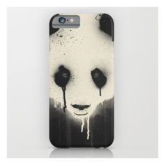 Panda Stare iPhone & iPod Case (€31) ❤ liked on Polyvore featuring accessories, tech accessories and iphone & ipod cases