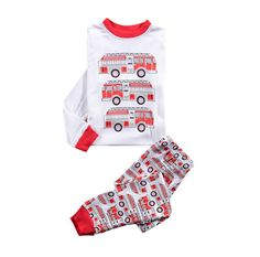 Hot kids cartoon long sleeve pajamas boys printed cars cotton pijamas children's leisure homeweat suits in stock