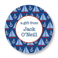 Sailboats Gift Stickers