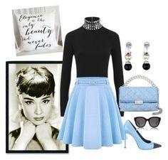 """Audrey Hepburn Inspired!"" by brandonandrews500 ❤ liked on Polyvore featuring Amanti Art, Alexander Wang, Yves Saint Laurent, STELLA McCARTNEY, Tiffany & Co. and CÉLINE"