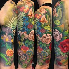 35 Ideas tattoo flower sleeve alice in wonderland Trendy Tattoos, Love Tattoos, Beautiful Tattoos, New Tattoos, Body Art Tattoos, Tatoos, Wing Tattoos, Couple Tattoos, Future Tattoos