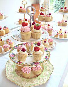 Vintage Tea Party Cupcakes-The Sanctuary, via Flickr.