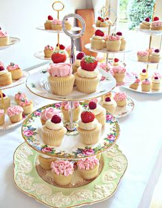 Vintage Tea Party Cupcakes-The Sanctuary by Heavenly-Cupcakes, via Flickr