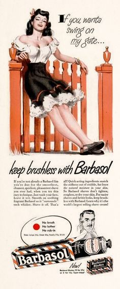 dandy vintage advertising : 1947 Barbasol Ad.