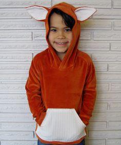 Fox Costume Velour Hoodie Jacket, Custom Size. $36,00, via Etsy.