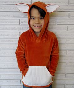 Fox Costume Velour Hoodie Jacket, Custom Size. $36,00, via Etsy.