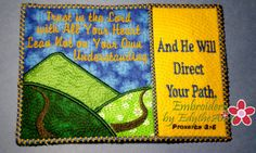 TRUST IN THE LORD Mug Mat/Mug Rug - 2 Sizes Included - INSTANT DOWNLOAD