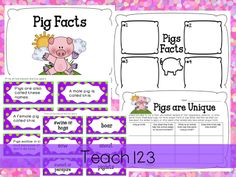 Fairy Tale:  3 Little Pigs- packet includes science, research, and fun reading activities.  $ 3 Little Pigs Activities, Reading Activities, Pig Facts, Fairy Tales Unit, First Grade Science, Three Little Pigs, Elementary Schools, Kindergarten, Second Grade