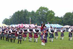 Joueurs de cornemuses aux Glasgow Highland Games, en Ecosse