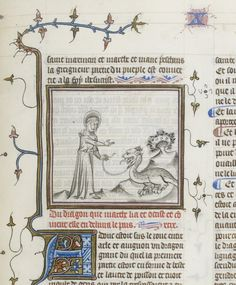 I like St Martha because instead of just sitting there and getting eaten by a dragon, she went out and tamed it. http://gallica.bnf.fr/ark:/12148/btv1b84557843/f199.image