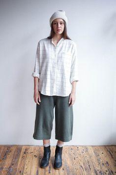 Lauren Manoogian Miter Pants in Olive