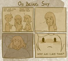 I've been an incredibly shy kid. Growing up shy can be quite challenging, and because I am still struggling today I drew some comics about being the shy kid. Funny Nurse Quotes, Nurse Humor, Nursing Memes, Funny Nursing, Nursing Quotes, Shy People Problems, Happy Nurses Week, Introvert Problems, Blunt Cards