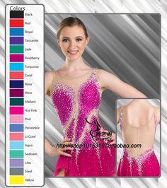 Красный катание юбка женщины высокое качество женщины катание платье лайкра или спандекс выбрать фигурному катанию одежда custome бесплатная доставка купить на AliExpress
