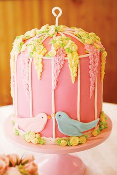 """Charming Bird Inspired Bridal Shower; Would be cute for a """"Nesting"""" baby shower, too. :)"""