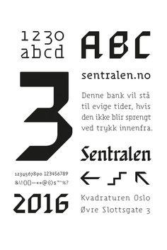 Identity for Sentralen, Oslo's new performance venue, by Metric Design