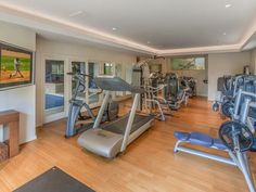 Exercise Room next to indoor pool.