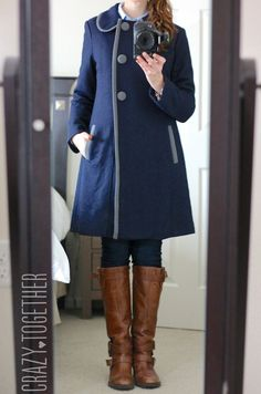 Cute coat--love the classic, vintage style; length and color is perfect